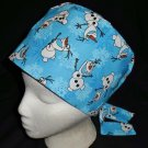 DISNEY FROZEN OLAF Nurses Scrubs Hat Ladies Hats Pixie Scrub Caps Surgical Cap Chemo Hat