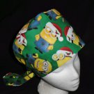 Despicable Me Minions Christmas Nurses Scrubs Hat Ladies Hats Pixie Scrub Caps Surgical Cap
