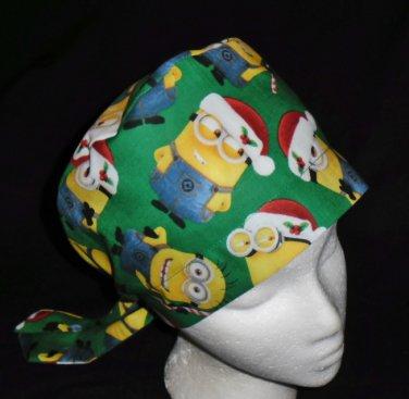 4250adab7d0 Despicable Me Minions Christmas Nurses Scrubs Hat Ladies Hats Pixie Scrub  Caps Surgical Cap
