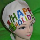 Ladies Surgical Scrubs Scrub Cap Pixie Hat Medical Caps Hungry Caterpillar Happy Holidays