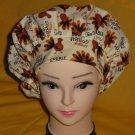 Ladies Women's Thanksgiving Banded Bouffant Nurses Scrub Cap Surgery Hat Cancer Recovery Hats