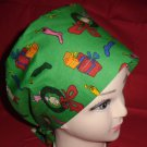 Dr.Seuss The Grinch And Cindy Lou Who Christmas Nurses Surgical Scrubs Scrub Caps Ladies Pixie Hat 2