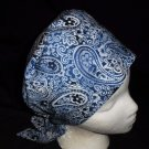 Nurses Surgical Scrubs Scrub Caps Ladies Pixie Cap Hat Surgery Hats Shades Navy Blue Paisleys