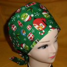 Angry Birds Christmas Hats Women Ladies Nurses Surgical Scrubs Hats Scrub Caps Reusable Fabric Pixie