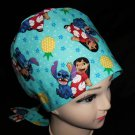 Handmade From Disney  Fabric Lilo And Stitch Pediatric Nurses Scrubs Pixie Scrub Caps Surgical Hats