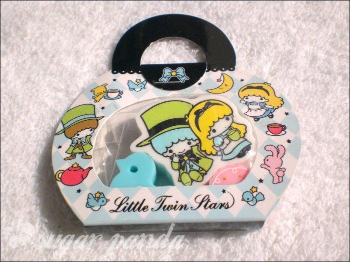 sanrio little twin star eraser set