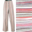 Mimi Maternity Striped Cotton Stretch Pants Size Medium (M)