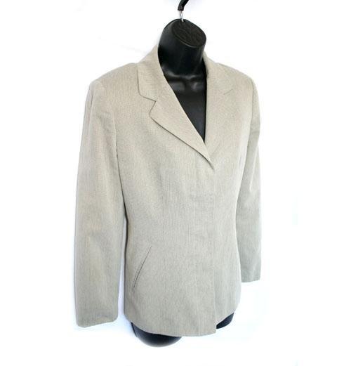 Ann Taylor Tan/Cream Hidden Button Blazer/Jacket Size 8 (M) Medium