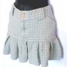AEROPOSTALE Light Blue Boucle Tweed Pleated Schoolgirl Skirt Size 9/10
