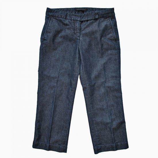Express Editor Dark Rinse Super-Stretchy Capri Jeans Size 6 (Small) S