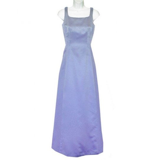 Nicole Miller Long Blue Satin Formal Gown/Dress Size 4 (Small) S