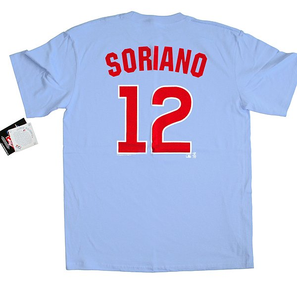 Chicago Cubs #12 Soriano MLB T-Shirt Men's Size XL New