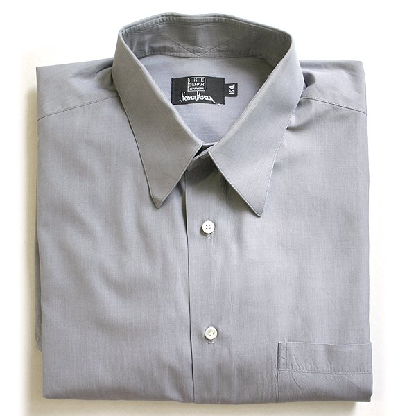 Ike Behar Neiman Marcus Gray Men's Dress Shirt Size 16 XL