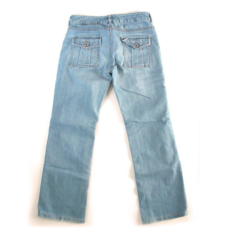 Banana Republic Light Low Rise Cargo Stretch Jeans Women's Size 0 (XS)