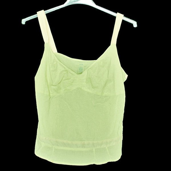 Odille Anthropologie Light Mint Green Cotton Camisole Cami Women's Size 6 (Small) S