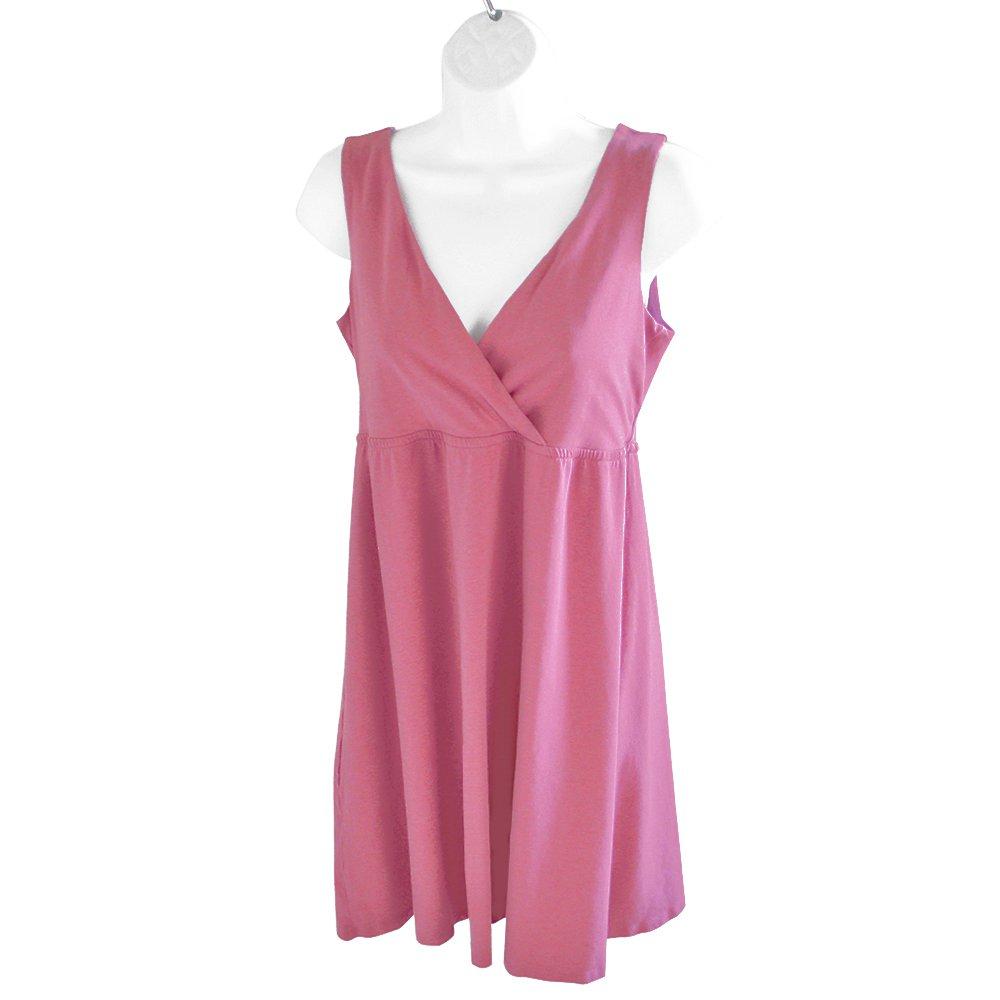 Garnet Hill Surplice Wrap Bust Comfy Soft Mauve Sun Dress Sundress XS (Fits Like Women's Small)