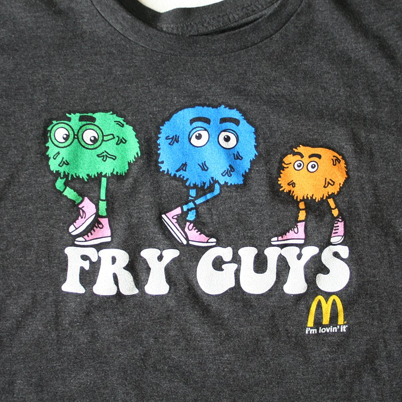 Retro McDonalds Fry Guys Dark Gray T-Shirt TShirt Men's