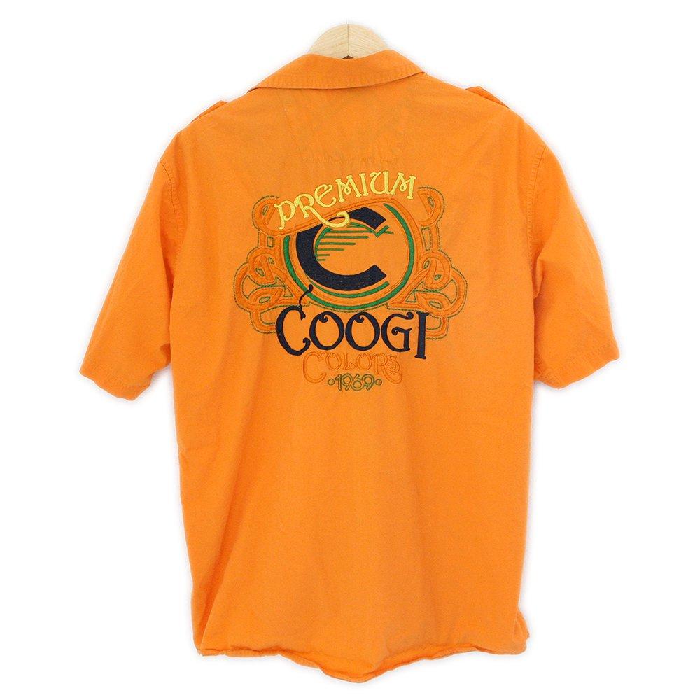 COOGI Premium Colors 1969 Bright Orange Embroidered Shirt Men's Size XL