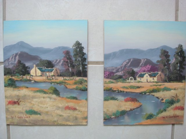 Original Oil Painting - South African Artist - Robertson(Set)