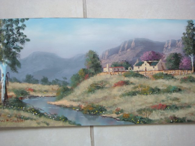 Original Oil Painting - South African Artist - Wolsley