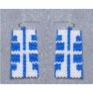 Mirrored Images Earrings - peyote bead pattern