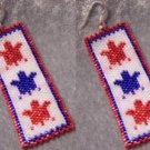 Patriotic Turtles Earring Set - Peyote Bead Pattern
