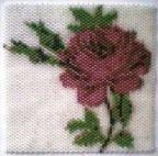 Red Rose Amulet Bag Pattern