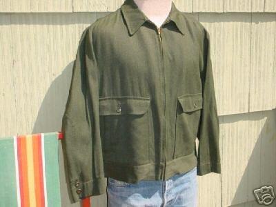 Vintage 50's Mens Jacket Dark Green Penneys 44 XL