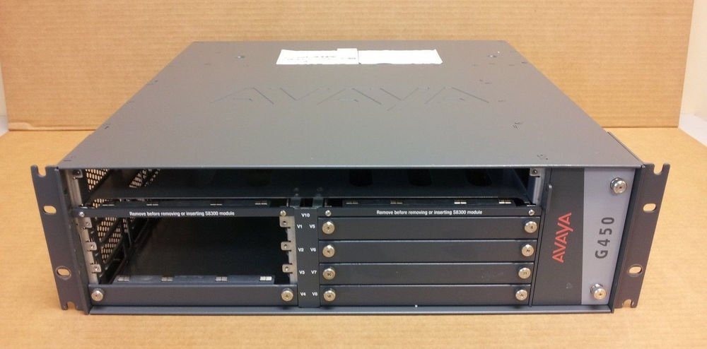 Avaya G450 Media Gateway Chassis w/ MB450 & dual power supply (1) MP80 no modules