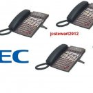 NEC DSX40 PHONE SYSTEM (3) 34B (1) 22 BUTTON DISPLAY PHONES DSX