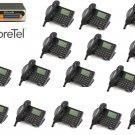 Shoretel 30 KSU VOIP Phone System  W/ 15  230 Phones Telephones