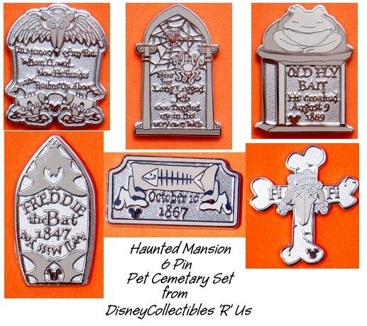 Disney haunted mansion pet cemetary 6 pin complete set dlr voltagebd Choice Image