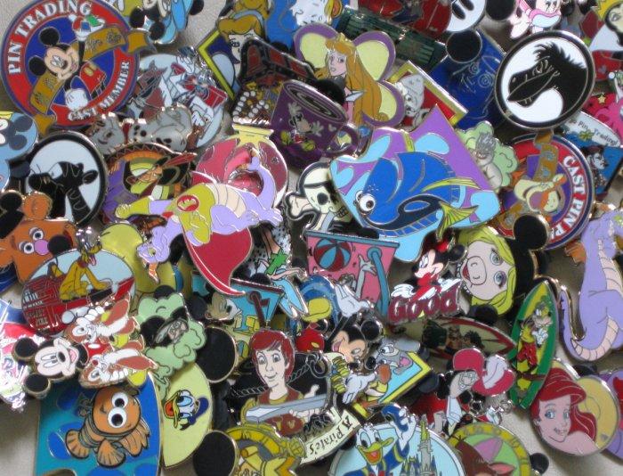 Disney WDW 25 Pin Lot Traders Grab Bag 1.18 ea