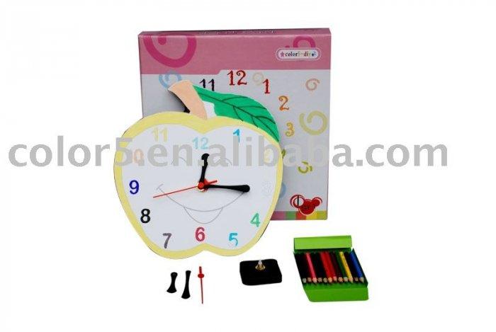 Children clock; Paper clock; Toy clock(DIY-C006)