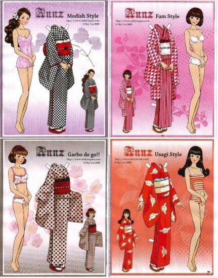ANNZ Magazine Paper Dolls 4 DOLLS 4 PAGES