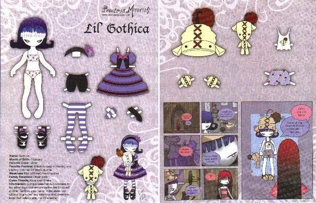 L'IL GOTHICA Magazine Paper Dolls 2 PAGES