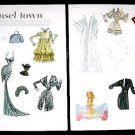TINSEL TOWN Magazine Paper Dolls 2 BIG PAGES