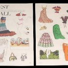 FAIREST OF THEM ALL Magazine Paper Dolls 2 BIG PAGES