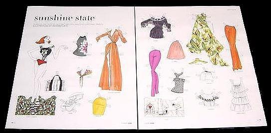 SUNSHINE STATE Magazine Paper Dolls 2 BIG PAGES