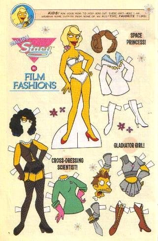 MALIBU STACY IN FILM FASHIONS Comic Book Paper Dolls