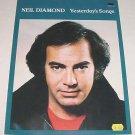 Yesterday's Songs NEIL DIAMOND Sheet Music 1981