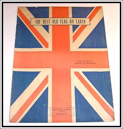 THE BEST OLD FLAG ON EARTH Sheet Music 1914