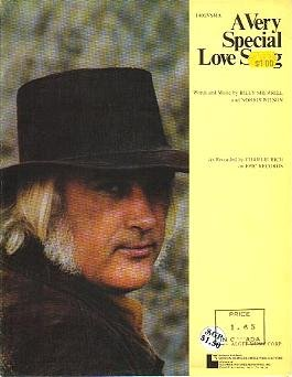 A Very Special Love Song CHARLIE RICH Sheet Music 1974