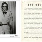 BOB WELCH Black & White Press Photo & 3-Page Bio 1970s