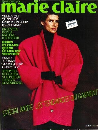 MARIE CLAIRE French Edition #385 09/84 FANNY ARDANT