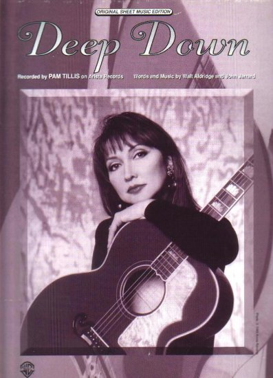 Deep Down PAM TILLIS Sheet Music PHOTO 1995