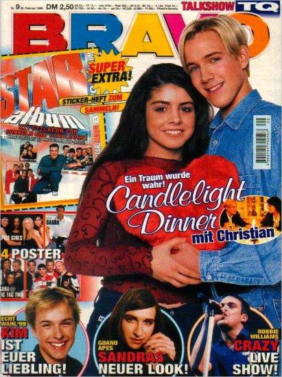 BRAVO MAGAZINE #9 February 25, 1999 Natural Born Hippies TQ, 98º