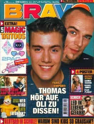 BRAVO MAGAZINE #18 April 29, 1999 Oli P THOMAS D Tarkan