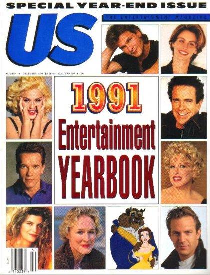US Magazine Yearbook December 1991 MIDLER Kidman PITT Close