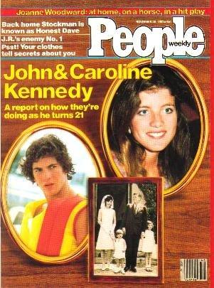 People Weekly Magazine November 30, 1981 John Jr. & Caroline Kennedy